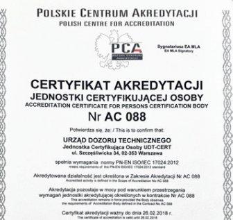 Certyfikacja osób elementem podnoszenia kwalifikacji personelu
