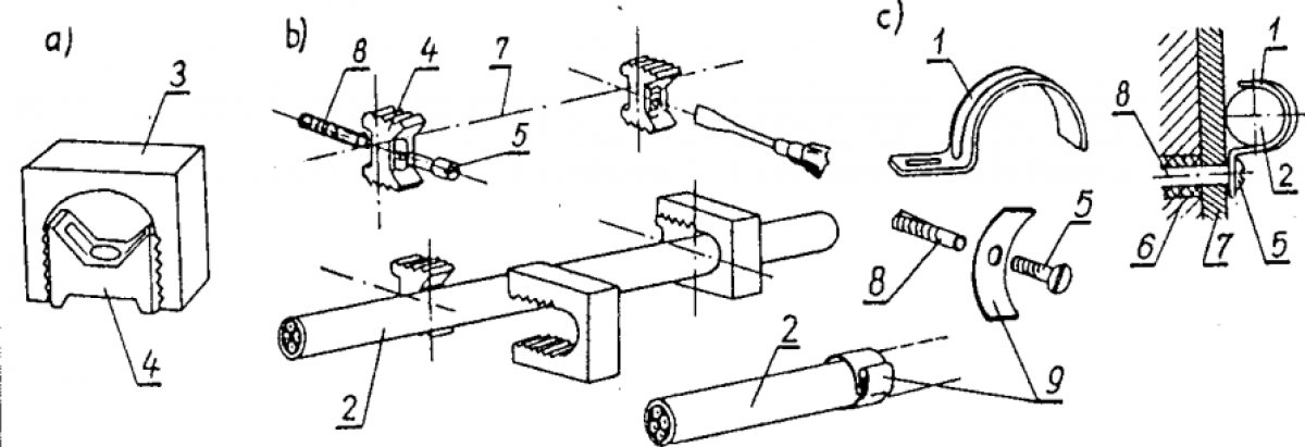 Rurki instalacyjne i listwy montażowe