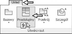 Redagowanie rzutów 2D na podstawie modelu 3D w programie AutoCAD