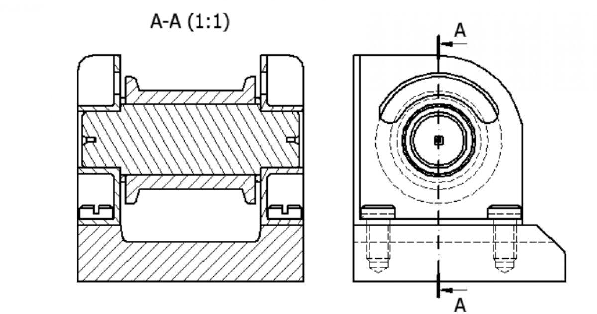 Rzut typu przekrój (Section)