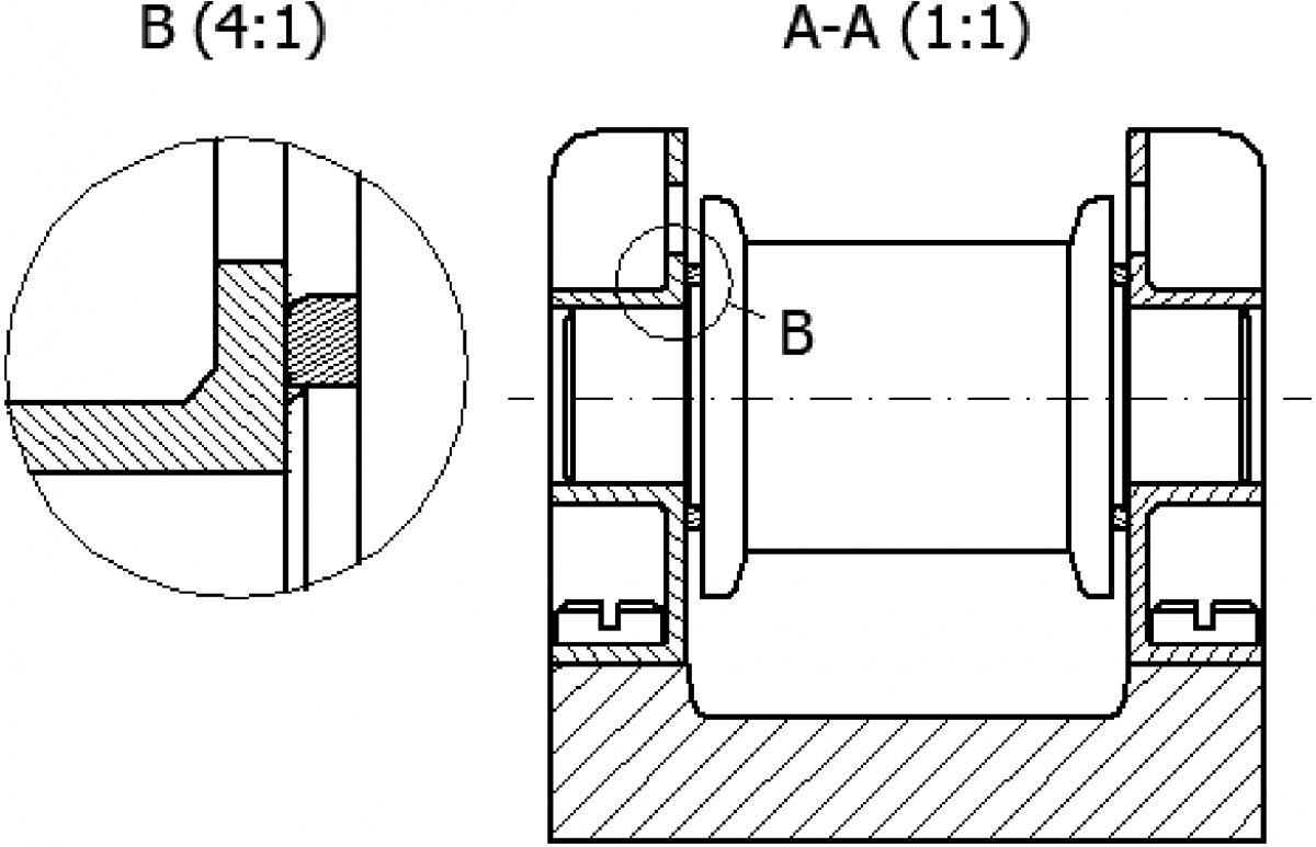 Rzut typu szczegół (Detail View) w programie CAD - ćwiczenia
