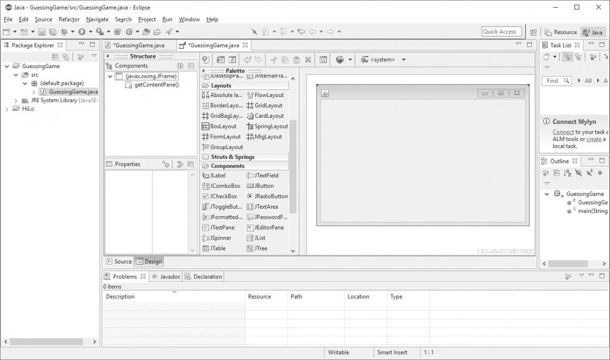 Przygotowywanie aplikacji GUI w programie Eclipse