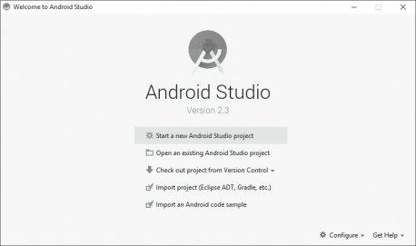 Rozpoczynanie nowego projektu aplikacji w Android Studio