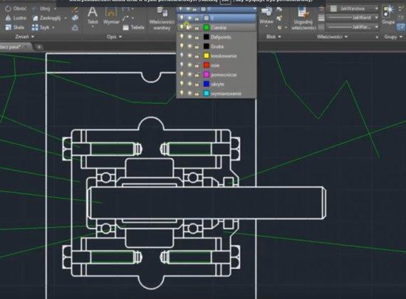 Warstwy rysunkowe w AutoCAD