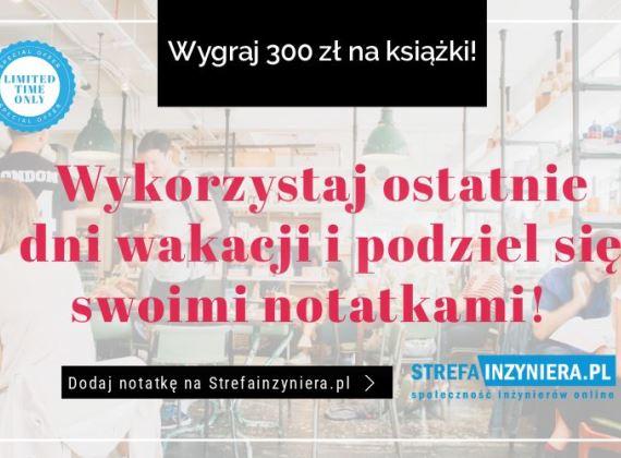 Podziel się notatkami ze studiów i wygraj książki Helionu o wartości 300 zł!
